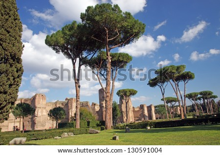The Baths of Caracalla (Terme di Caracalla) in Rome