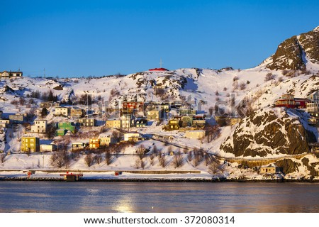 The Battery on a cold winter day in St. John's, Newfoundland and Labrador, Canada.