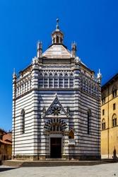 The Battistero di San Giovanni in Corte in Pistoia, Tuscany, Italy. Also known as the Baptistery of San Giovanni di Rotondo.