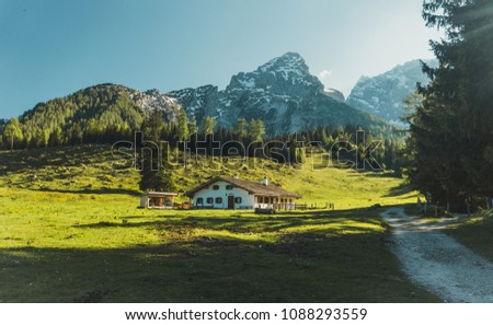 The Bavarian Alps are part of the Alps and are located in Germany. #1088293559