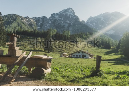 The Bavarian Alps are part of the Alps and are located in Germany. #1088293577