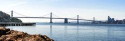 The Bay Bridge and the San Francisco Skyline from Treasure Island