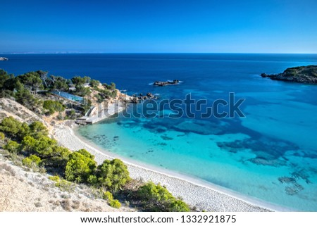 The Bay of Portals Nous in Mallorca, Spain