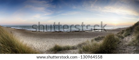 The beach and sand dunes at Hengistbury Head near Bournemouth in Dorset