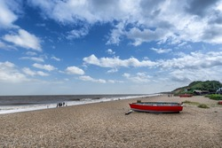 The beach at Dunwich in Suffolk East Anglia