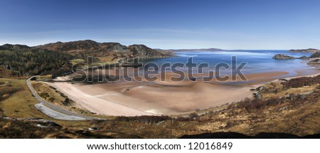 The beach at Gruinard Bay in northern Scotland