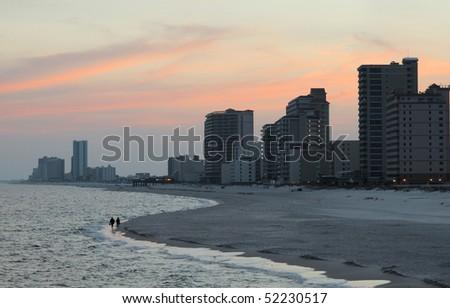 The beach at Gulf Shores Alabama.
