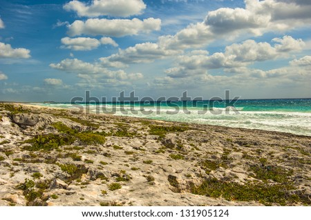 The beach at punta sur on Cozumel