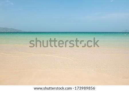 The beach at Similan island , Phuket Thailand