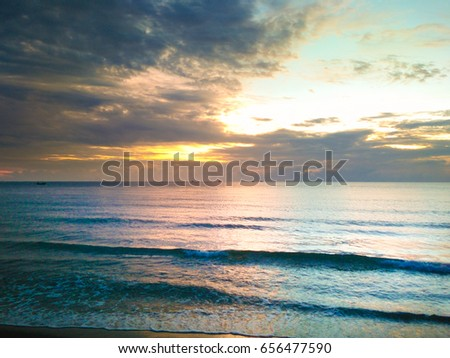 The Beach at sunset #656477590