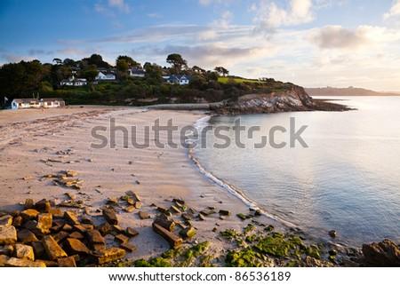 The beach at Swanpool Falmouth Cornwall England UK