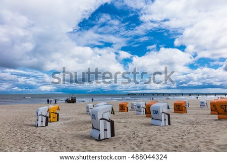 The beach in Ahlbeck on the island Usedom (Germany). #488044324