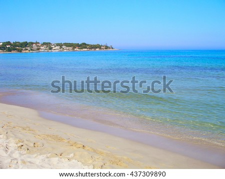 The beach in Fontane Bianche, Sicily, Italy. Foto stock ©