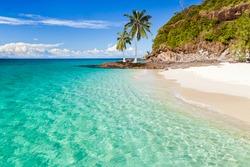 The beach of Tsarabanjina island, Madagascar