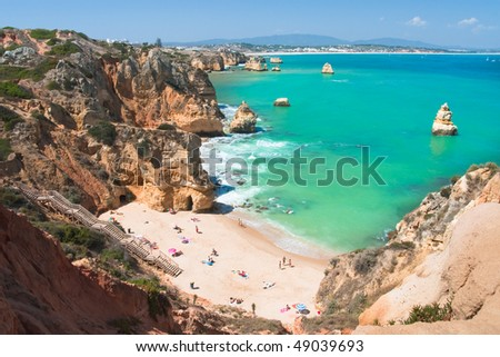 The beach on Algarve coast