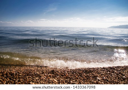 The beach with clear and clear water