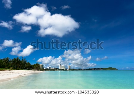 The beaches in summer - stock photo
