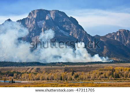 "The ""Bearpaw Bay Fire"" was a lightning caused fire in Grand Tetons National Park that started August 30, 2009. It was located approximately two miles northeast of North Jenny Lake Junction"