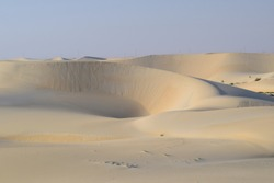 The Beautiful and Serene Colors of the Desert, Dammam, Eastern Province, Kingdom of Saudi Arabia.