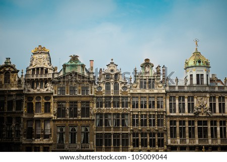 The beautiful architecture of the Grand-Place in Brussels, Belgium