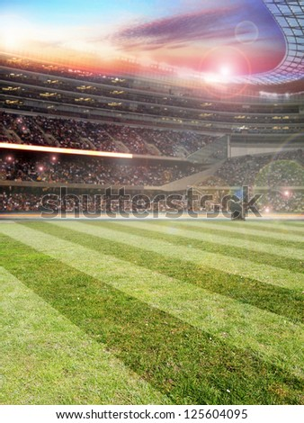 The beautiful Background with football stadium