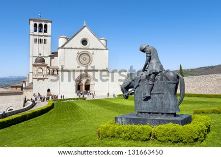 The beautiful Basilica of St. Francis of Assisi - stock photo