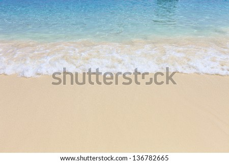 The beautiful beach is a tourist attraction in Thailand.  #136782665