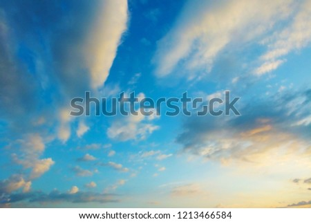 The beautiful blue sky clouds background.nature cloud blue sky #1213466584