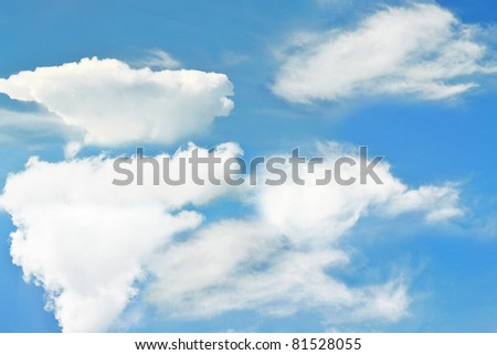 The beautiful blue sky have a lot of cloud