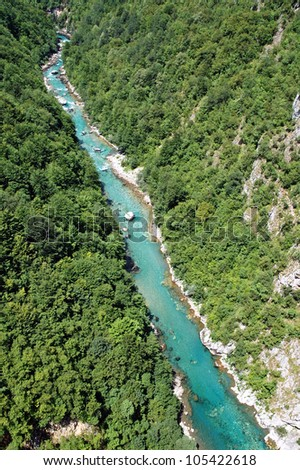The beautiful canyon of Tara, the second deepest canyon in the world in Montenegro