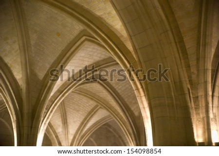 The beautiful ceiling of european architecture