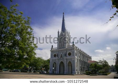 The Beautiful Church with green tree