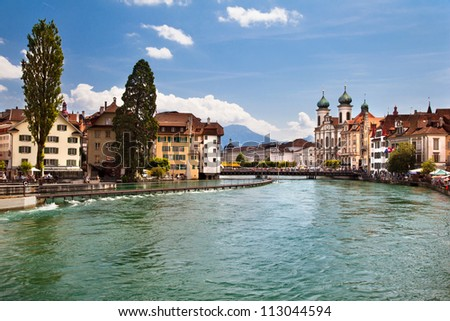 The beautiful city in Switzerland - Lucerne