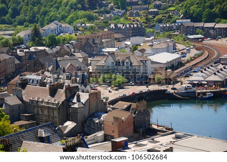 The beautiful city of Oban in Argyll, Scotland, UK