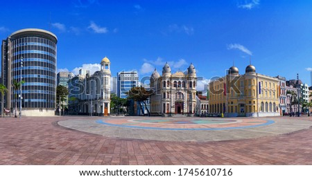 The beautiful city of Recife with its historic buildings, located in the state of Pernambuco - Brazil Foto stock ©