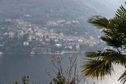The beautiful cityscape of Carate Urio in Laglio, Lombardia