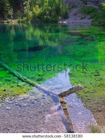 The beautiful colors of Grassi Lakes near Banff National Park.