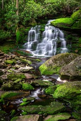 The beautiful Elakala Falls in Blackwater Falls State Park, Tucker County West Virginia