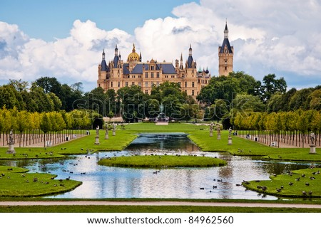 The beautiful, fairy-tale castle in Schwerin