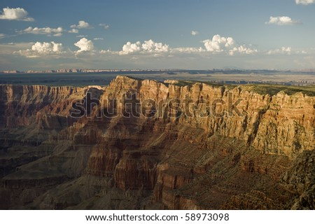 The beautiful Grand Canyon in Arizona at sunset