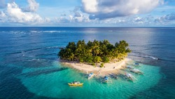 The beautiful Island of Guyam beach paradise near Siargao, Philippines