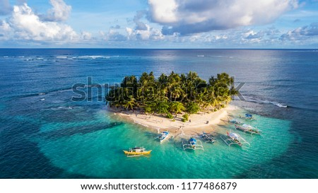 The beautiful Island of Guyam beach paradise near Siargao, Philippines  #1177486879