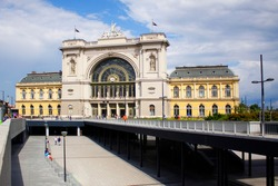 The beautiful Keleti Railway Station