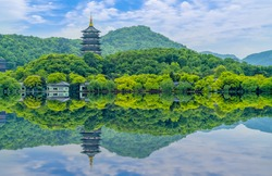 The beautiful landscape and classical gardens of Hangzhou, West Lake
