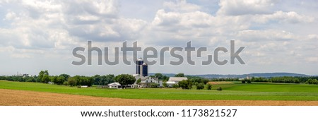 The beautiful landscape of rural farming America. The farmland of Lancaster County, Pennsylvania. #1173821527