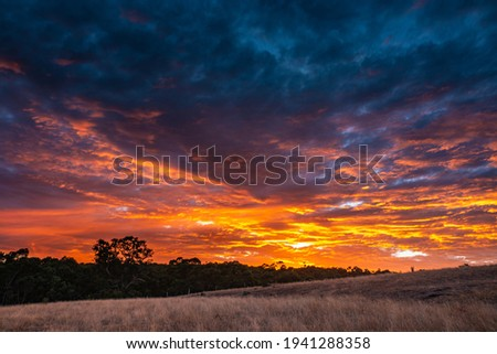 The Beautiful Landscape of The Sky of Dawn at Sunrise, Grampians National Park in Melbourne in Australia, Nobody Stock photo ©