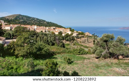 The beautiful landscapes of Corsica - on the road between Piana and Arone (France)