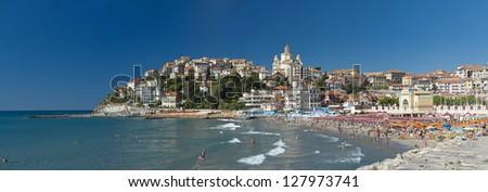 the beautiful Ligurian town of Porto Maurizio,Imperia during summer
