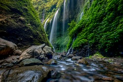 The beautiful madakaripura waterfall in east java, Indonesia
