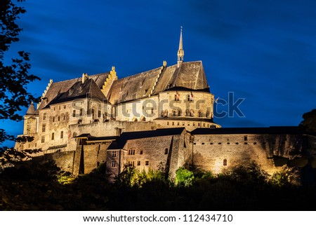 The beautiful medieval castle in Vianden, a small village in Luxembourg